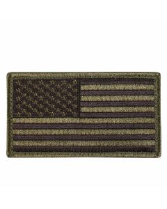 Olive Drab & Black American Flag Patch