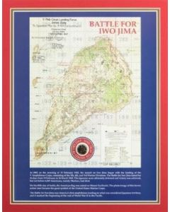Iwo Jima Map with Sand Print