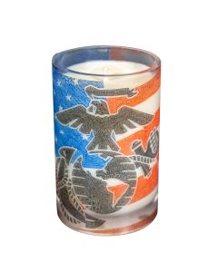 Eagle, Globe & Anchor Candle