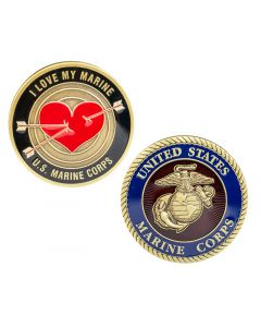 I Love My Marine USMC Coin