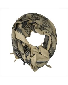 Khaki Don't Tread on Me Tactical Scarf
