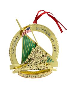 National Museum of the Marine Corps Brass Ornament