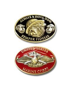Semper Fidelis Always a Devil Dog Challenge Coin
