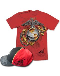 Adult Eagle, Anchor and Globe NMMC Cap & T-Shirt