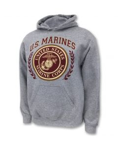 Adult U.S. Marines Semper Fi Laurel Leaf Hoodie
