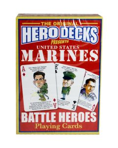 US Marines Battle Heroes Playing Cards