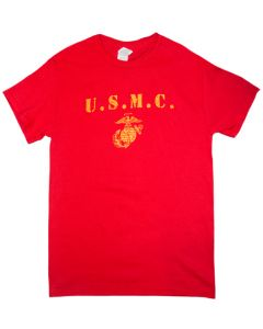 Adult USMC Distressed T-Shirt