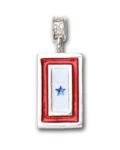 Blue Star Flag Charm