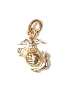 USMC Eagle, Globe and Anchor Gold Tone Charm