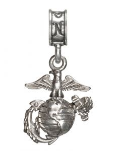 Eagle, Globe and Anchor Charm