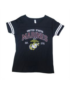 Ladies USMC Vintage Globe T-Shirt