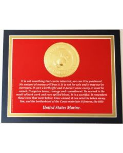 Marine Title Earned Print