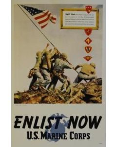 Enlist Now: U.S. Marine Corps Poster - in sleeve