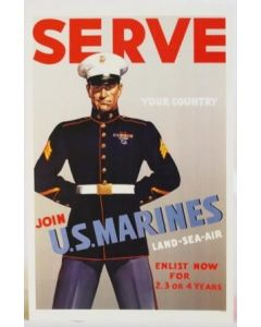 Serve-Join U.S. Marines Poster - in sleeve