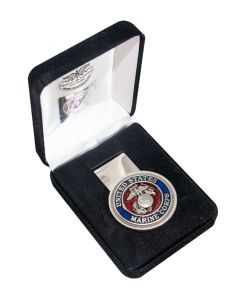 USMC Enamel Logo Pewter Money Clip
