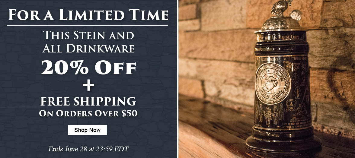 Free Shipping on Orders Over $50 Plus 20 Percent off Drinkware